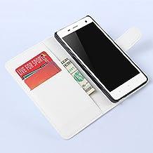 Nadakin Xiaomi Mi4 Calidad Premium Cartera de Cuero con Carcasa de Teléfono Flip Funda con Soporte Magnetico de Cierre para Xiaomi Mi4(Blanco)
