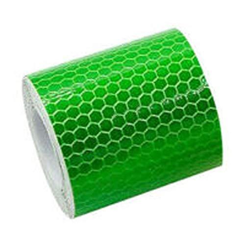 LuMon Reflektierend Wasserhahn, Fahrrad DIY Sticker, Auto Klebeband 360s Grad Minimalist Mehrdirektional Sichtbarkeit Reflektoren für Fahrzeuge Anhänger Bikes Helme - Grün (Kundenspezifische Auto-teile)