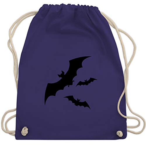 Halloween - Fledermäuse - Unisize - Lila - WM110 - Turnbeutel & Gym Bag