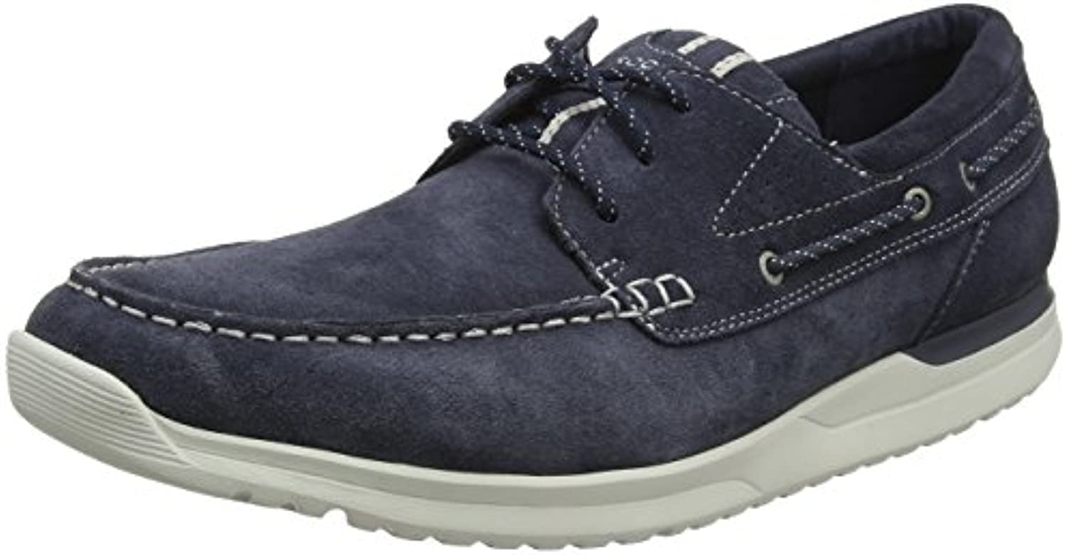 Rockport Langdon 3 Eye Oxford Navy SDE Wshble, Zapatos de Cordones Derby para Hombre -