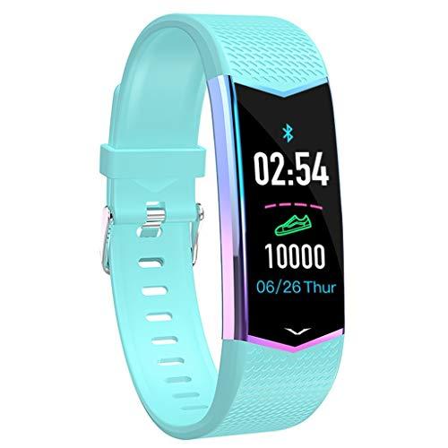 Waotier Fitnessarmband Uhr Pulsmesser Für Männer Frauen Sportmodus Schlafmonitor Herzfrequenzmonitor Fernsteurung Sportuhr Smartwatch Für IOS Android Kalorienzähler Schrittzähler (Himmelblau)