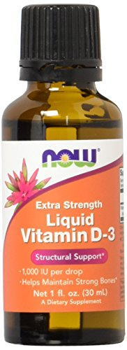 Now Foods Extra Strength Liquid Vitamin D-3 (flüssiges Vitamin D3) 1000 IE, 30 ml, Tropfen | hochdosiert, Glutenfrei Sojafrei