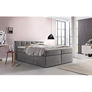 Furniture for Friends Möbelfreude® Boxspringbett Valina 180x200cm Hellgrau H2 Kopfteilhöhe 90 cm ideal für Dachschrägen…