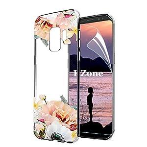 OKZone Galaxy S9 Hülle [mit HD-Schutzfolie], [Blumen Muster]