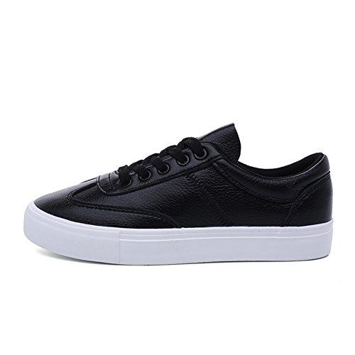 Chaussures de loisirs automne pour les femmes/Chaussures coréen pour les étudiants/Coupe-bas dentelle Chaussures/Chaussures plates confortables B