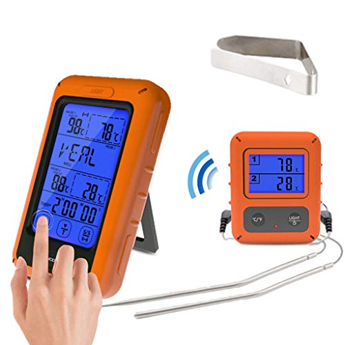 LAOSI Horno Digital, termómetro de Doble sonda, Control Remoto inalámbrico para cocinar...