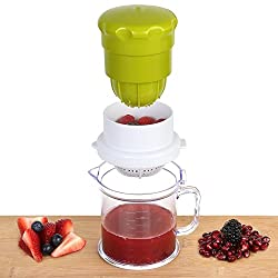 LUMONY 2 in 1 Multi Use Hand Press Manual Juicer for Pomegranate, Lime Fresh, Water Melon, Strawberry, Blueberry, Grapes Healthy Juice Anytime Fresh (Multi Color)
