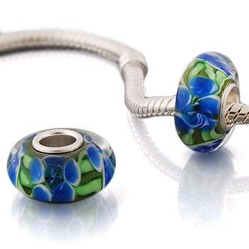 Andante-stones original 925 argent sterling perle de murano pour bracelet à perles européennes livrée dans une pochette en organza