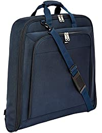AmazonBasics Premium Garment Bag, Navy Blue- 40""