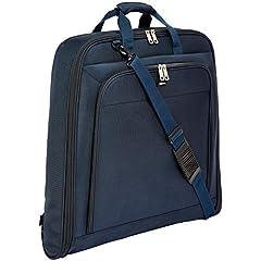 Idea Regalo - AmazonBasics - Borsa porta abiti Premium, Blu marino, 1 m