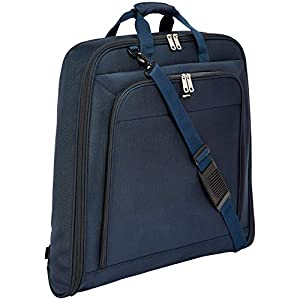 AmazonBasics – Hochwertige Kleidertasche, Marineblau – 1m