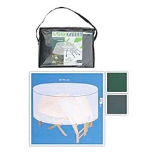PROGARDEN Pro Table de Jardin Vert ou Ronde Gris 170 x 90 cm Gris