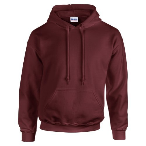 Gildan Hooded Sweatshirt Heavy Blend Plain Hoodie Pullover Hoody Maroon 2XL