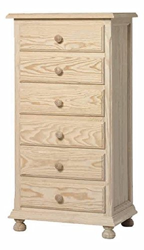 ojemar international Chest of Drawers 6 Drawer Narrow ojemar international Ideal for bedrooms Dimensions in cm: 60 x 40 x 116 1