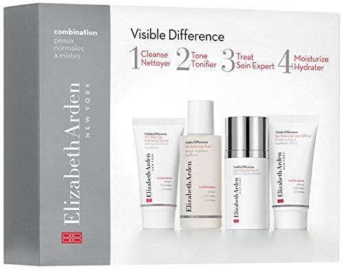 Elizabeth Arden - Visible Difference, Set di 4 prodotti per pelli da normali a miste