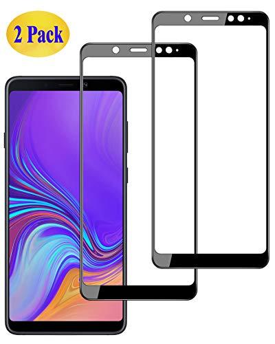 Eachy Samsung Galaxy A9 2018 Panzerglas Schutzfolie, [2 Stück] Vollständige Abdeckung Ultra-klar Bildschirmschutzfolie für Samsung Galaxy A9 2018 (SM-A920) Panzerglasfolie 6,3 Zoll-Schwarz