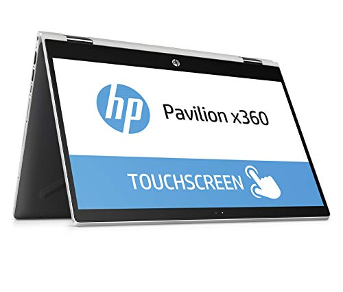 HP Pavilion x360 14-dd0001ng 35,56 cm (14 Zoll HD IPS Touch) Convertible Notebook (Intel Core i3-8130U, 4GB DDR4 RAM, 128GB SSD, Intel UHD Grafik, Windows 10 Home) silber
