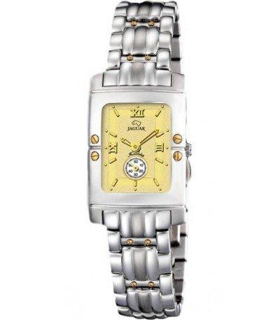 Jaguar J285/CH - Reloj de mujer de cuarzo swiss made, cadena de acero, esfera color champagne