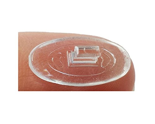 Ovale Silikon Brillen Nasenpads #2 / Brillenpads Klicksystem 15 mm / 0.6