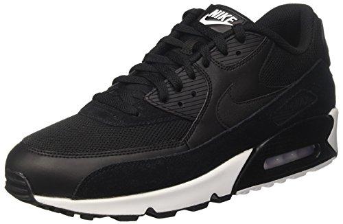 Nike Air Max 90 Essential, Scarpe da Ginnastica Uomo Nero (Black/Black/White)