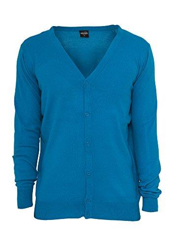 Urban Classics TB424 Crewneck Sweater Regular Fit Girocollo Uomo (Turquoise, M)