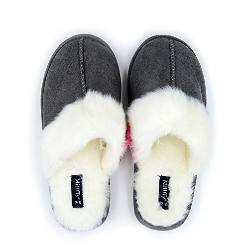 Millffy Nordic Faux Trim Rabbit Fur Slippers Womens Shoes Faux Fur Slippers Memory Foam Slippers Indoor eva Slipper