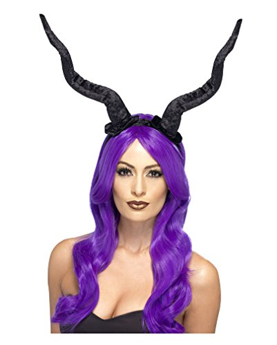 t Haarreif (Halloween Schwarze Hörner)