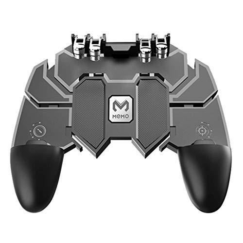 Hardli AK66 Six Finger All-in-One Mobile Game Controller Free Fire Key Button Joystick Gamepad L1 R1 Trigger für PUBG Free Mobile
