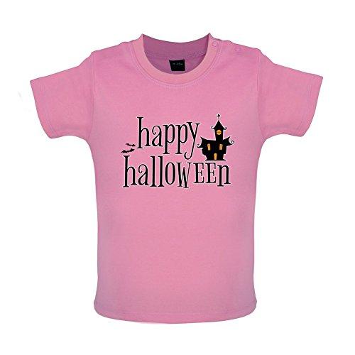 Happy Halloween - Baby T-Shirt - Bubble-Gum-Pink - 18 bis 24 (Halloween Kostüme Gum Bubble)