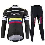 LRZ Unisexe Vêtements de Cyclisme Set Jersey + Gel rembourré Sangle Bavette...