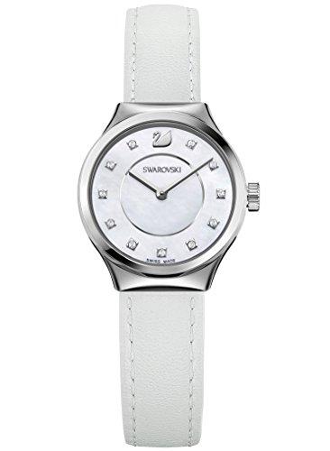 Swarovski orologio dreamy da donna con cinturino in pelle bianca – 5199946