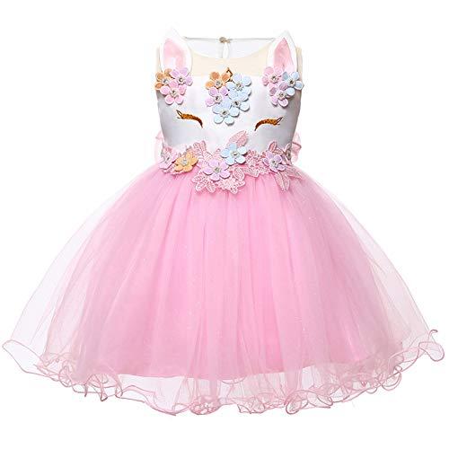 922216148 LZH Bebé Niña Disfraz de Unicornio Vestido de Princesa Tutu Disfraces de  Cumpleaños Vestido del Arco