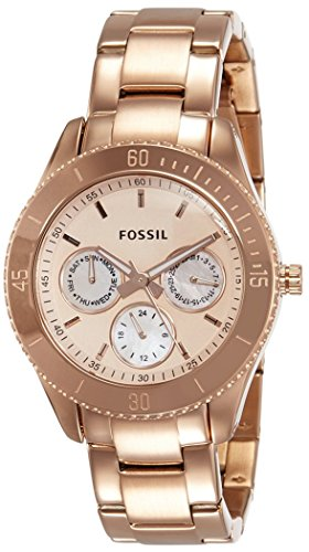 Fossil Multifunction Rose Gold-tone Mujer 38 mm cronógrafo reloj ES2859