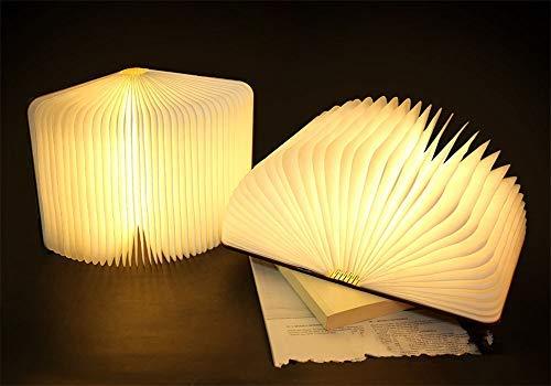 SLCSL LED book light creative portable origami book light USB novelty night light wooden book lamp