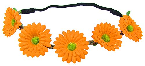 Blumen Haarband mit Margeriten - Orange