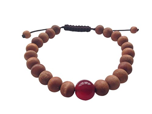 Tibetano mala madera pulsera muñeca Mala para meditación