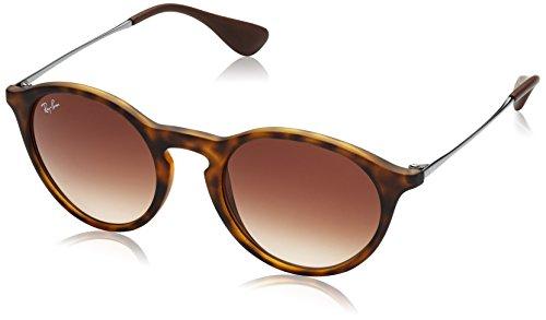 Rayban Unisex Sonnenbrille Mod. 4243, Mehrfarbig (Gestell: Havana, Gläser: braun verlauf Dunkelbraun 865/13), Medium (Herstellergröße: 49)