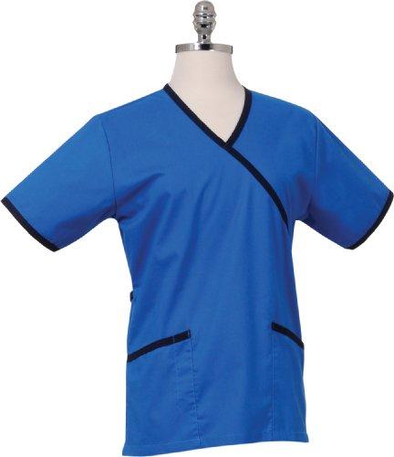 Chef Works Damen-Medical Scrub Top, Royal/Navy, FESS-ROY-3XL (Scrubs Top Royal)