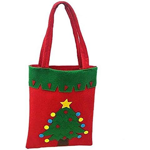 ZARU Bolsas Noel del caramelo del regalo de la Feliz Navidad Bolsas Nueva de Santa (D)