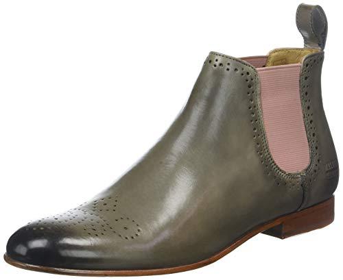 Melvin & Hamilton Damen Sally 16 Chelsea Boots, Braun (Crust Smog Ela Rose LS Nat.), 40 EU Chelsea Rose