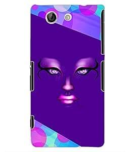 ColourCraft Creative Face Design Back Case Cover for SONY XPERIA Z4 MINI / COMPACT