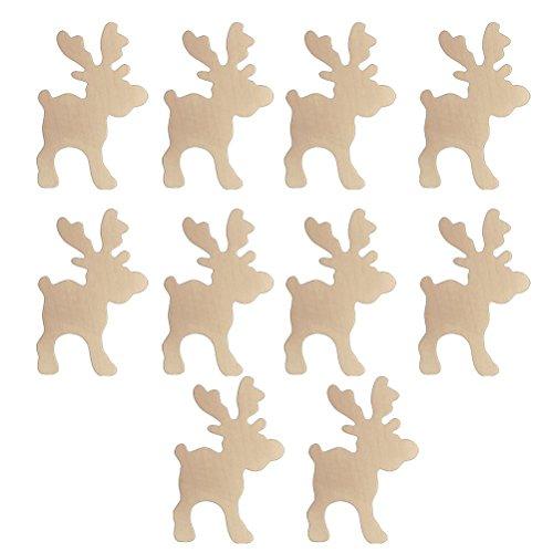 PIXNOR Ornements de Noël en bois renne embellissements 10pcs