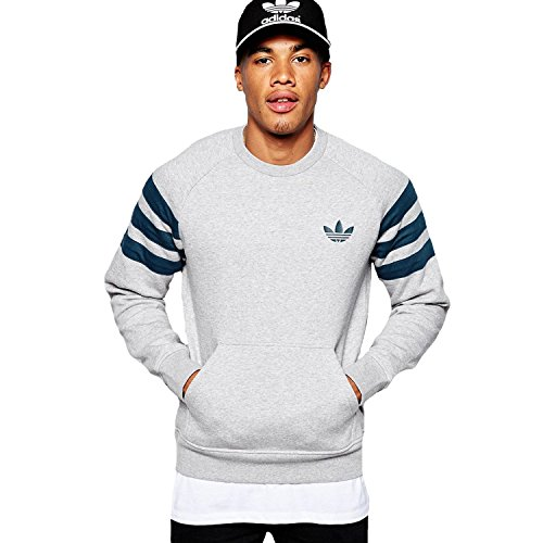 adidas Fitted Crew New Sweat-Shirt pour Homme