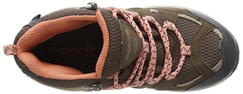 Regatta Garsdale Mid Jnr, Chaussures de Randonnée Basses fille Multicolore (Coconut)