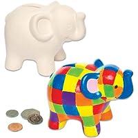 """Preisvergleich für Baker Ross Keramik-Spardosen """"Elefant"""" für Kinder zum Basteln, Bemalen, Dekorieren und Verschenken (2 Stück)"""
