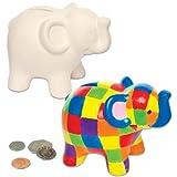 """Baker Ross Keramik-Spardosen """"Elefant"""" für Kinder zum Basteln, Bemalen, Dekorieren und Verschenken (2 Stück)"""