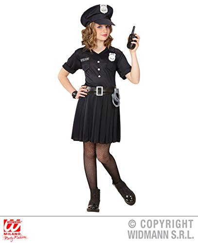 Polizei-Mädchen - Kinder Kostüm - Klein - Alter 5-7 - 128cm (Polizei Mädchen Outfit)