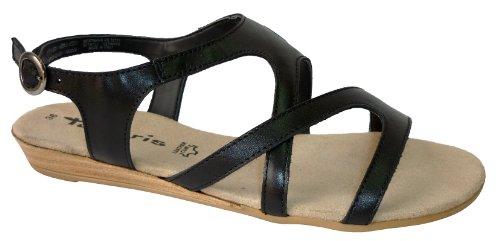 TAMARIS Sandalette black 28126-22-001 (41, schwarz (black))