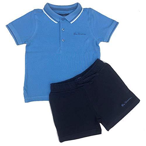 Ben Sherman Ragazzi Polo T Shirt e Set Pantaloncini Blue12m/18m/24m/36m