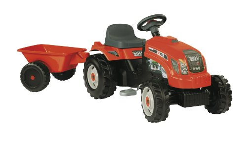 Simba-Smoby GM Tractor with Trailer (Red)